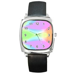 Abstract Background Colorful Square Metal Watch