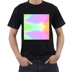 Abstract Background Colorful Men s T-Shirt (Black) (Two Sided)