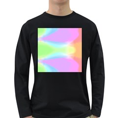 Abstract Background Colorful Long Sleeve Dark T-Shirts