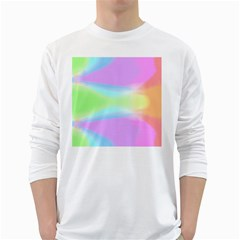 Abstract Background Colorful White Long Sleeve T-Shirts