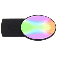 Abstract Background Colorful USB Flash Drive Oval (4 GB)
