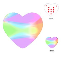 Abstract Background Colorful Playing Cards (heart)