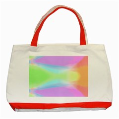 Abstract Background Colorful Classic Tote Bag (Red)