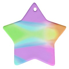 Abstract Background Colorful Star Ornament (Two Sides)