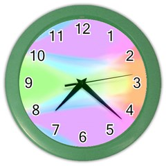 Abstract Background Colorful Color Wall Clocks