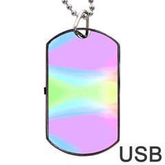 Abstract Background Colorful Dog Tag Usb Flash (one Side)