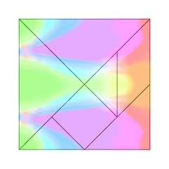 Abstract Background Colorful Acrylic Tangram Puzzle (6  x 6 )