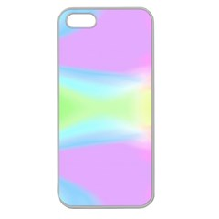 Abstract Background Colorful Apple Seamless Iphone 5 Case (clear)