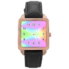 Abstract Background Colorful Rose Gold Leather Watch