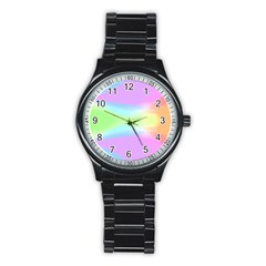 Abstract Background Colorful Stainless Steel Round Watch