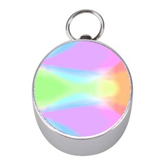 Abstract Background Colorful Mini Silver Compasses