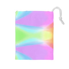 Abstract Background Colorful Drawstring Pouches (large)