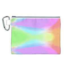 Abstract Background Colorful Canvas Cosmetic Bag (L)