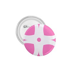 Love Heart Valentine Pink White Sweet 1.75  Buttons