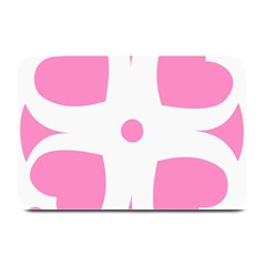 Love Heart Valentine Pink White Sweet Plate Mats