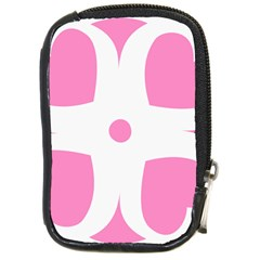 Love Heart Valentine Pink White Sweet Compact Camera Cases