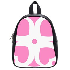 Love Heart Valentine Pink White Sweet School Bags (Small)