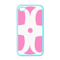 Love Heart Valentine Pink White Sweet Apple iPhone 4 Case (Color)