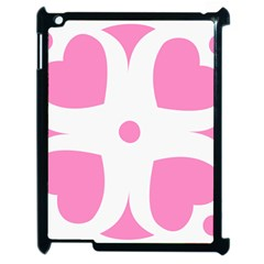 Love Heart Valentine Pink White Sweet Apple iPad 2 Case (Black)
