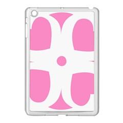 Love Heart Valentine Pink White Sweet Apple Ipad Mini Case (white)