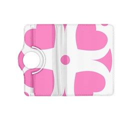 Love Heart Valentine Pink White Sweet Kindle Fire HD (2013) Flip 360 Case