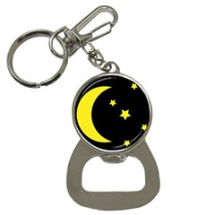 Moon Star Light Black Night Yellow Button Necklaces