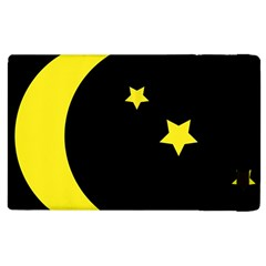 Moon Star Light Black Night Yellow Apple iPad 3/4 Flip Case