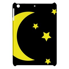Moon Star Light Black Night Yellow Apple iPad Mini Hardshell Case