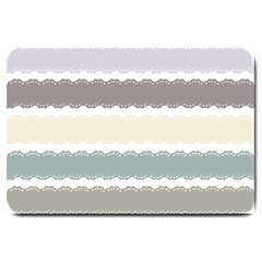 Muted Lace Ribbon Original Grey Purple Pink Wave Large Doormat