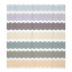 Muted Lace Ribbon Original Grey Purple Pink Wave Shower Curtain 66  x 72  (Large)