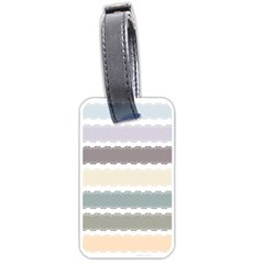 Muted Lace Ribbon Original Grey Purple Pink Wave Luggage Tags (Two Sides)