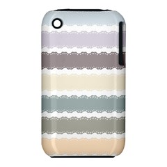 Muted Lace Ribbon Original Grey Purple Pink Wave iPhone 3S/3GS