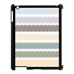 Muted Lace Ribbon Original Grey Purple Pink Wave Apple Ipad 3/4 Case (black)