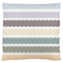 Muted Lace Ribbon Original Grey Purple Pink Wave Standard Flano Cushion Case (Two Sides)