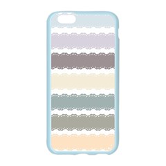 Muted Lace Ribbon Original Grey Purple Pink Wave Apple Seamless iPhone 6/6S Case (Color)