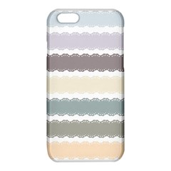 Muted Lace Ribbon Original Grey Purple Pink Wave iPhone 6/6S TPU Case
