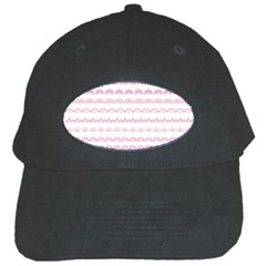 Pink Lace Borders Pink Floral Flower Love Heart Black Cap