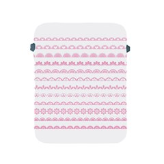 Pink Lace Borders Pink Floral Flower Love Heart Apple Ipad 2/3/4 Protective Soft Cases