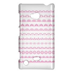 Pink Lace Borders Pink Floral Flower Love Heart Nokia Lumia 720