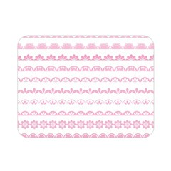 Pink Lace Borders Pink Floral Flower Love Heart Double Sided Flano Blanket (mini)