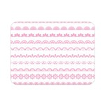 Pink Lace Borders Pink Floral Flower Love Heart Double Sided Flano Blanket (Mini)  35 x27 Blanket Front