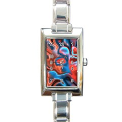 Abstract Fractal Rectangle Italian Charm Watch