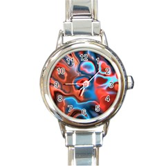 Abstract Fractal Round Italian Charm Watch