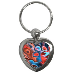 Abstract Fractal Key Chains (heart)