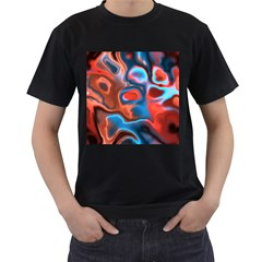 Abstract Fractal Men s T Shirt (black) (two Sided)