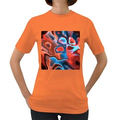 Abstract Fractal Women s Dark T-Shirt