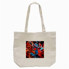 Abstract Fractal Tote Bag (cream)