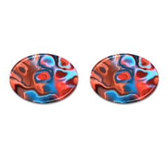 Abstract Fractal Cufflinks (oval)