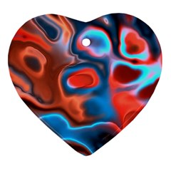 Abstract Fractal Heart Ornament (Two Sides)