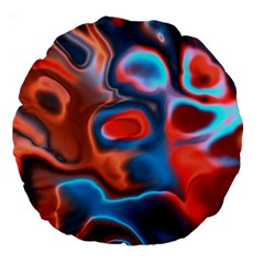 Abstract Fractal Large 18  Premium Round Cushions